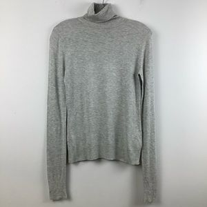 Twik for Simons Turtleneck Sweater in Heather Grey